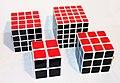 Rubik's cube, variations 2×2×2 - 5×5×5.jpg