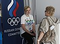 Russian Olympic Committee stand at the Russia House (7741313160).jpg