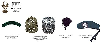 Witwatersrand Rifles Regiment - SADF era Witwatersrand Rifles insignia