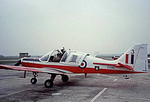 Scottish Aviation Bulldog - Manchester University Air Squadron Bulldog at RAF Woodvale in 1983