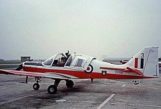 Scottish Aviation Bulldog - Manchester University Air Squadron Bulldog at RAF Woodvale in 1983