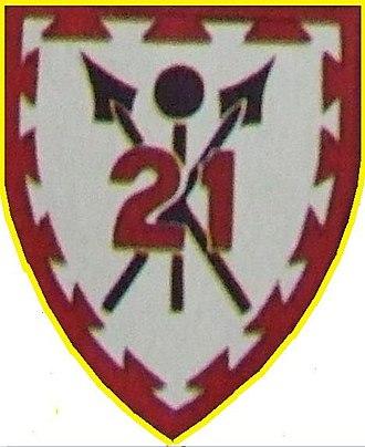 21 South African Infantry Battalion - SANDF 21 South African Infantry emblem