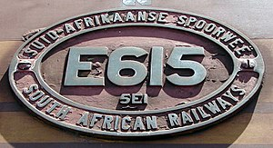 South African Class 5E1, Series 2 - Image: SAR Class 5E1 Series 2 E615 ID