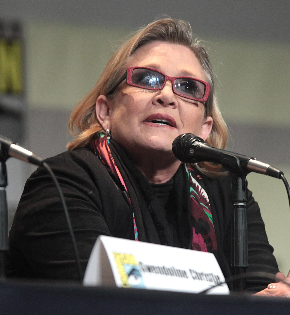 SDCC 2015 - Carrie Fisher (19655495036) (cropped)