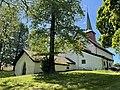 SEM KIRKE (Medieval church c. 1100) romansk middelalderkirke nær Jarlsberg hovedgård i Tønsberg, Norway Wedelske gravkapell Familien Wedel-Jarlsbergs gravkammer (Grave chapel crypt) Solfylt sommerdag IMG 3770.jpg