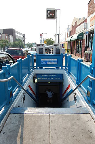 40th Street station (Market–Frankford Line) - Image: SEPTA40th Street Station Entrance 2007