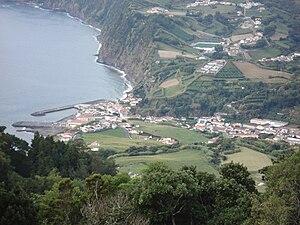 Povoação, Azores - The municipal seat of the municipality of Povoação located along the lombas of the Povoação crater