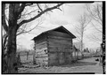 SMOKEHOUSE, GENERAL VIEW - Stencil House, Smokehouse, Clifton, Wayne County, TN HABS TENN,91-CLIF.V,1C-1.tif