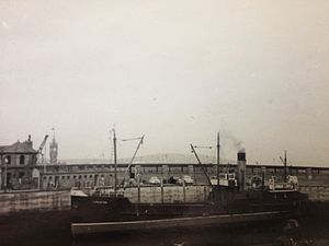 SS Conister - Conister at the Watch House Berth, Douglas.