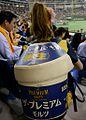 SUNTORY The PREMIUM MALT'S Beer Keg Girl in the Japanese baseball stadium.jpg