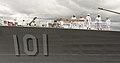 Sailors man the rails aboard USS Gridley (DDG 101). (27627367024).jpg