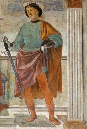Julian the Hospitaller - Saint Julian, from a fresco by Domenico Ghirlandaio