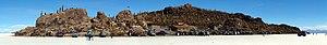 Daniel Campos Province - Inkawasi Island in Salar de Uyuni