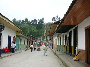 Quindío Department - Salento. Main street