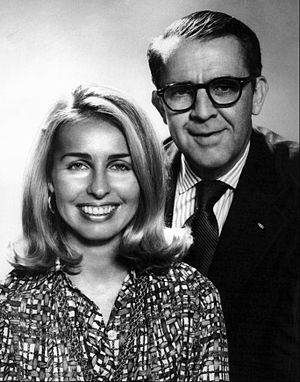 Hughes Rudd - Rudd with Sally Quinn, 1973.
