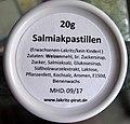 Salmiakpastillen, Zutaten und Warnhinweis.jpg