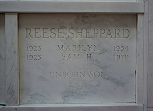 Sam Sheppard - Sam and Marilyn Sheppard crypt at Knollwood Cemetery