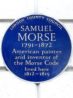 Photo of Samuel Morse blue plaque
