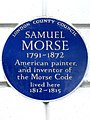 Samuel Morse 1791-1872 American painter and inventor of the Morse Code lived here 1812-1815.jpg