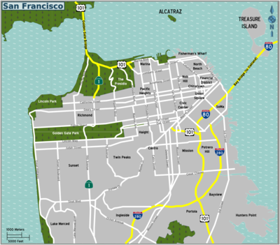 Trams San Francisco Map.San Francisco Travel Guide At Wikivoyage