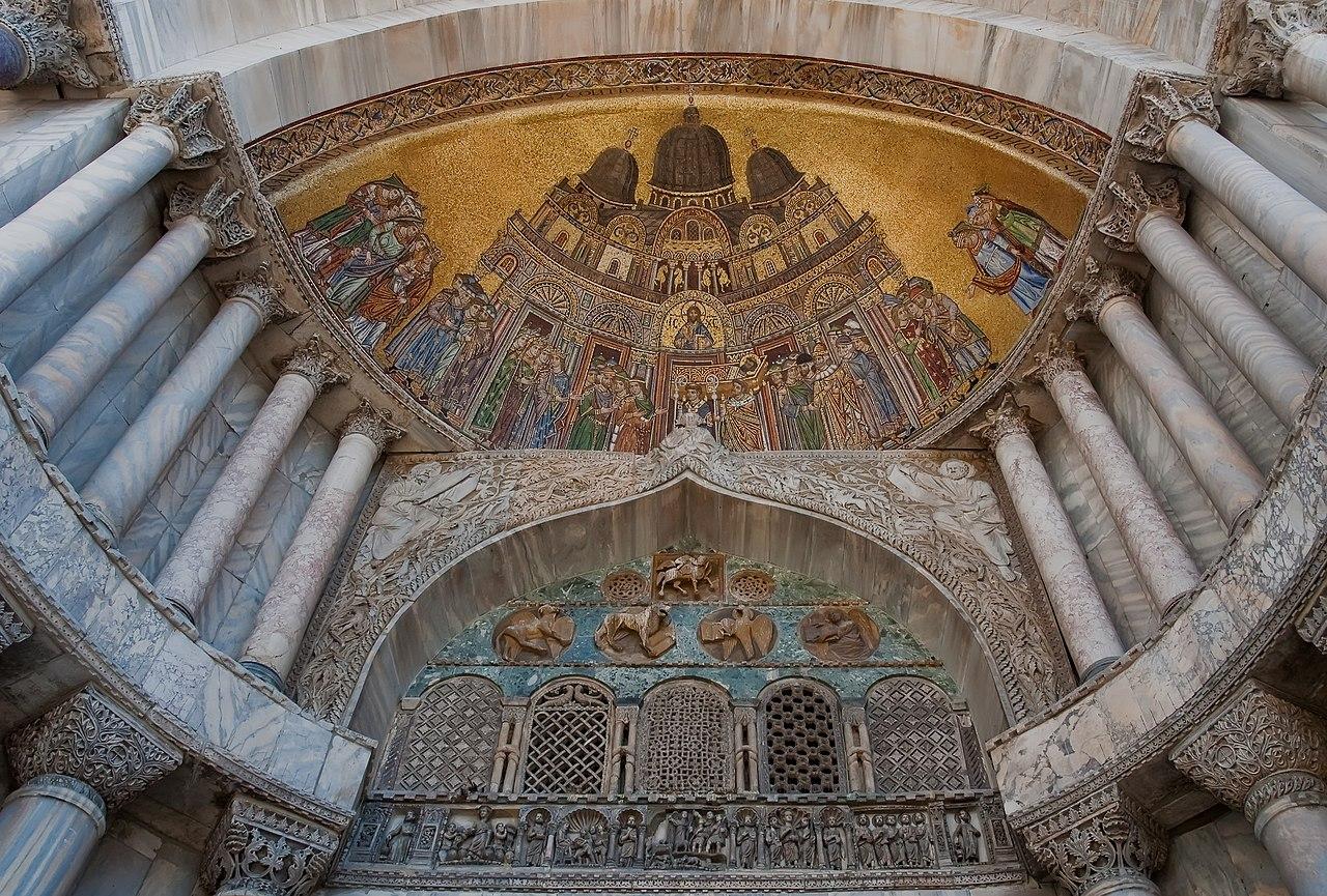 Balisique Saint Marc de Venise facade door
