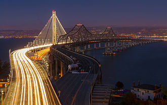 Outstanding Structure Award - Image: San Francisco–Oakland Bay Bridge New and Old bridges