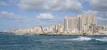 San Stephano Beach in Alexandria.