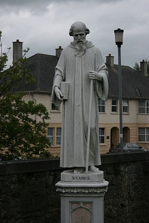 Cainnech of Aghaboe -  Statue at St. Canice's Catholic Church Kilkenny