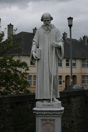 Cainnech of Aghaboe -  Statue at St. Canice's Catholic Church Kilkenny