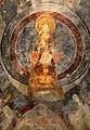 San lorenzo in insula, cripta di epifanio, affreschi di scuola benedettina, 824-842 ca., madonna in trono bendicente e sei angeli con scettro e globo 02.jpg