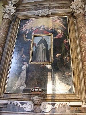 Saint Dominic in Soriano - Image: San marco, firenze, altare alfani poi martini dell'ala, san domenico in soriano, matteo rosselli 1640