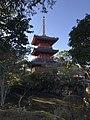 Sanjunoto Tower and pond in Buzen-Kokubunji Temple 2.jpg