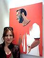 Sanna with painting, Kostas.jpg