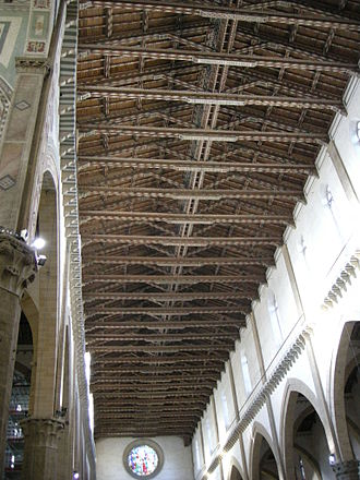 Truss - The roof trusses of the Basilica di Santa Croce in Florence