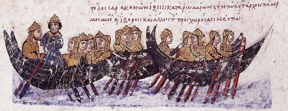 Saracen fleet against Crete