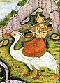 Saraswati with bīn on white bird.jpg