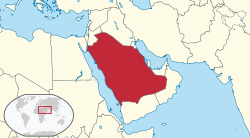 Location of Saūda Arābija
