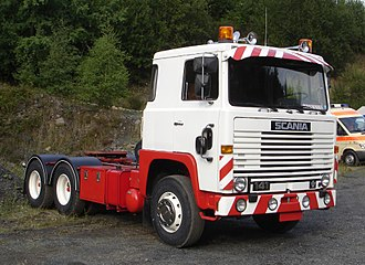 Scania AB - Scania LBS141 cab-over truck with Scania's 14.2-litre turbocharged V8 DS14 engine.