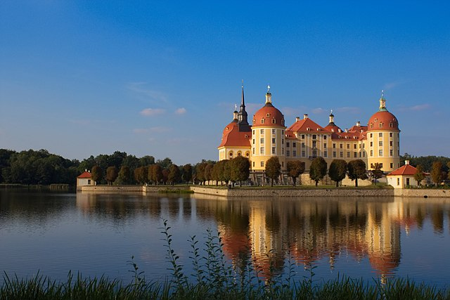 1st place: Castle Moritzburg near Dresden at evening light