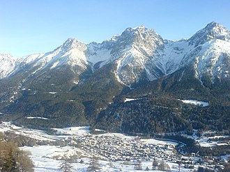 Scuol - Scuol village and valley