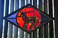 Seattle - Sephardic Bikur Holim Congregation - stained glass at entrance 03.jpg