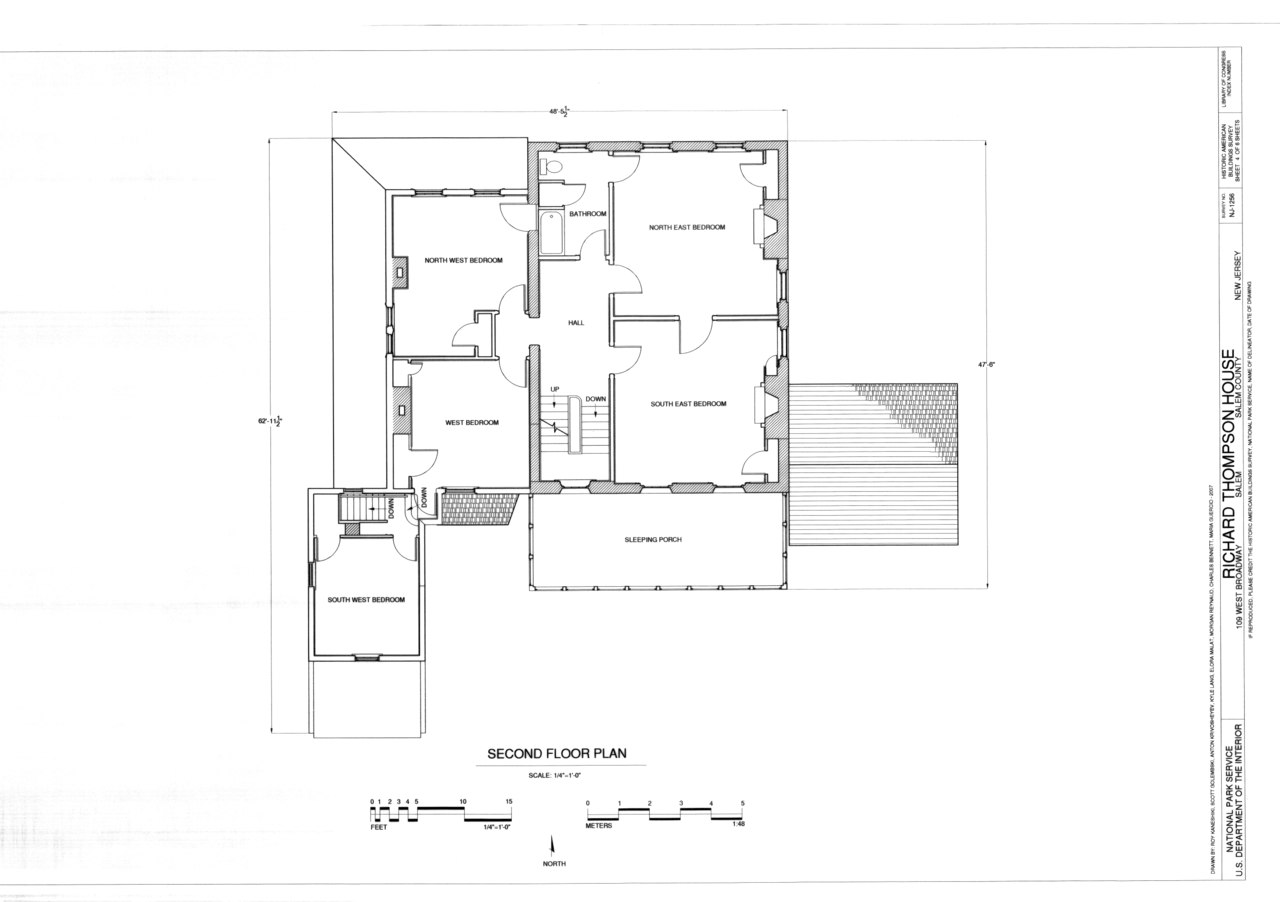 File second floor plan richard thompson house 109 west for Thompson house plans