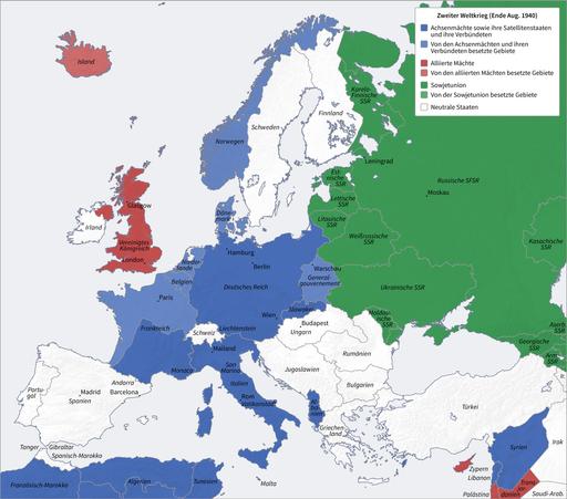 Second World War Europe 08 1940 de