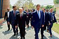 Secretary Kerry Walks With Iraqi Foreign Minister Ibrahim al-Jaafari Before Their Meeting in Baghdad (26238383871).jpg