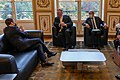 Secretary Pompeo Meets with French President Macron and Foreign Minister Le Drian in Paris (50610439646).jpg