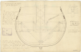 Section at Stations 2 and 4 to illustrate the method of fixing trusses to the hold and orlop deck on a two decker warship (no date) RMG J0429.png