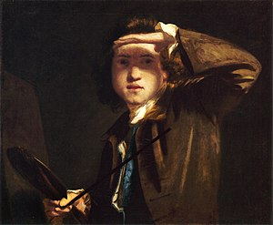 Society of Artists of Great Britain - Joshua Reynolds was a member of the Society (self portrait c. 1748).