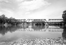 View of Selinsgrove Bridge across Susquehanna River