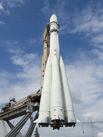 Макет ракеты «Восток» в Москве на ВДНХ