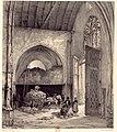 Senlis (60), église St-Pierre, nef, 1ère travée, vue vers le nord, par Monthelier et Bayot, vers 1836-1854.jpg